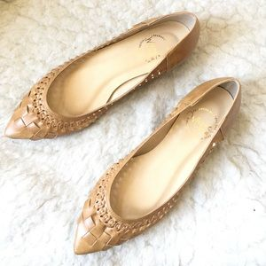 Brand new Jelly Bean woven pointed toe flats